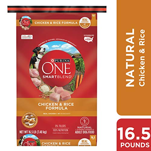 Purina ONE Natural Dry Dog Food; SmartBlend Chicken & Rice Formula - 16.5 lb. Bag