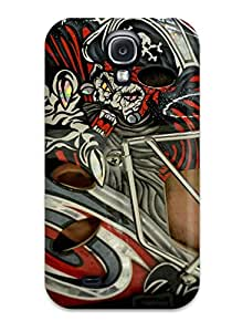 New Arrival Case Cover With GZbgYXh2163Axked Design For Galaxy S4- Carolina Hurricanes (3)