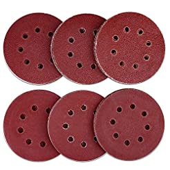 AUSTOR 60 Pieces 8 Holes Sanding Discs, ...