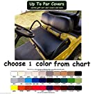 Club Car DS 2000+ Custom Golf Cart Seat Cover Set Made with Marine Grade Vinyl - Staple On - Choose Your Color From Our Color Chart!