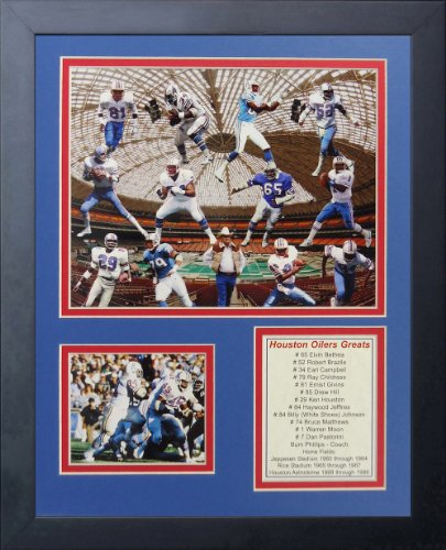Legends Never Die Houston Oilers Greats Framed Photo Collage, 11 by 14-Inch