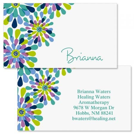Fresh Blooms Double-Sided Business Cards - Set of 250 2