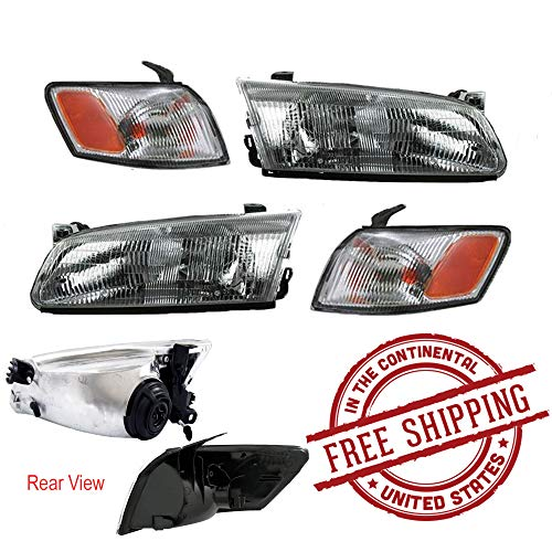 Toyota Camry 97 98 99 Head And Corner Light With Bulbs 4 Piece Combination Set