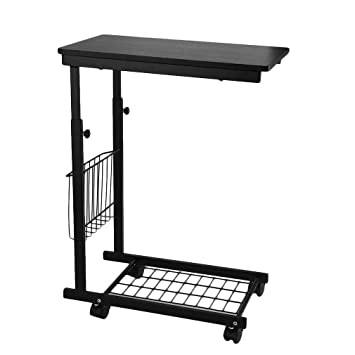 adjustable c table. Height Adjustable Sofa Side Table, C-shaped Snack Table Couch Coffee End C