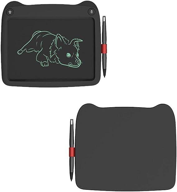 実用的な液晶ライティングボード バッテリ駆動の電子ライティングボード9インチ漫画LCD電子タブレットコンピュータ児童画ボード書込みグラフィティ黒板 便利で軽量 (色 : Black, Size : 9 inches)