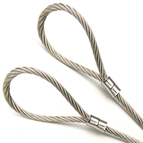PSI 30ft Custom Cut Bare Stainless Steel Grade 304 Wire Rope Cable 1/8