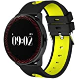"""TODO Bluetooth V4.0 Smart Watch Heart Rate Blood Oxygen 0.96"""" OLED - Yellow"""