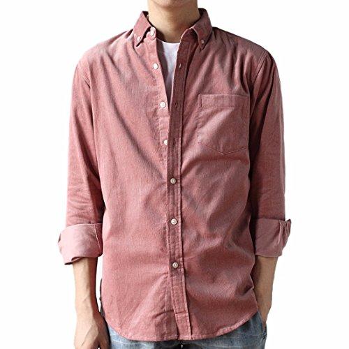 Men's Long-Sleeved Casual Corduroy Shirt Corduroy Long Sleeved Shirt