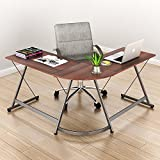 SHW L-Shaped Home Office Corner Desk Wood Top - Best Reviews Guide