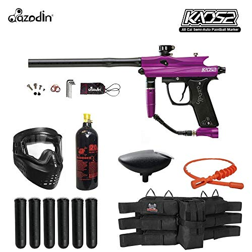 MAddog Azodin KAOS 2 Titanium Paintball Gun Package - Purple/Black