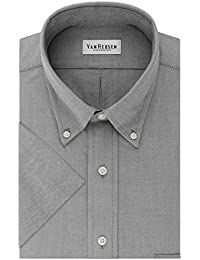 Mens Dress Shirts Short Sleeve Oxford Solid Button Down Collar