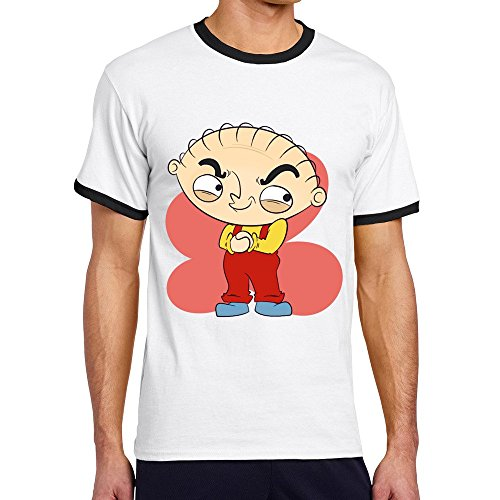 Vansty Stewie O-Neck T Shirt For Man Black Size S]()