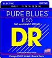 DR Strings. Pure Blues Pure Nickel Wrap Round Core 11-50 by DR Strings.
