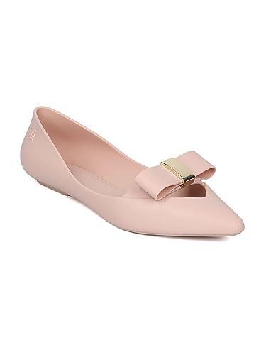 20772f3114caf Melissa Maisie II Women PVC Jelly Pointy Toe Bow Tie Key Hole Ballet Flat  HC23