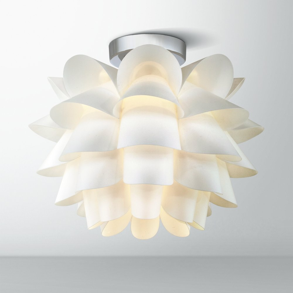Possini euro design white flower 15 34 wide ceiling light possini euro design white flower 15 34 wide ceiling light ceiling pendant fixtures amazon arubaitofo Gallery