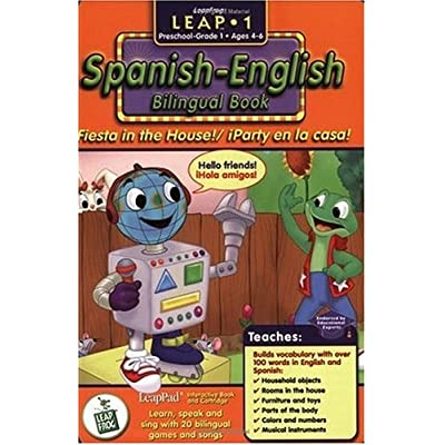 First Grade LeapPad Book - Fiesta in the House: Spanish-English Bilingual Book and Cartridge that are only for the Original Leappad learning system, not compatible with the Leappad Explorer Tablet.: Toys & Games