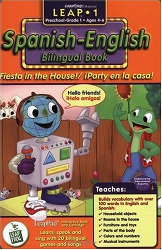 First Grade LeapPad Book - Fiesta in the House: Spanish-English Bilingual Book and Cartridge that are only for the Original Leappad learning system, not compatible with the Leappad Explorer Tablet. by LeapFrog Enterprises (Image #1)