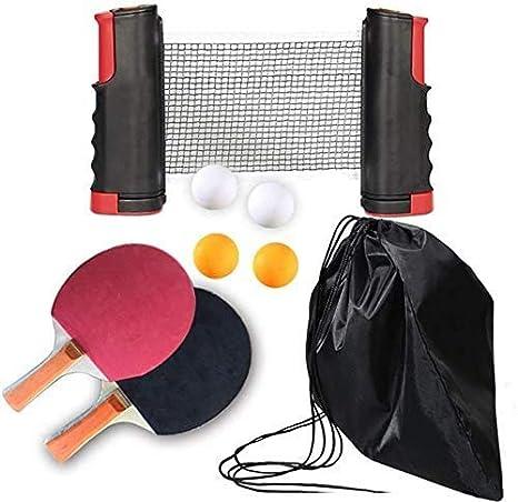 T.face Juego de Tenis de Mesa Juego de p/ádel Profesional de Ping Pong Red retr/áctil Accesorios de Tenis de Mesa reglamentarios Juego avanzado en Interiores o Exteriores Pelotas y Postes