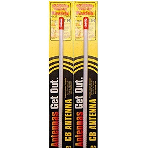 LOT OF 2 Firestik KW2-W 2' 5/8 Wave 100 Watts CB Radio Antenna (WHITE)