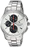 Maurice Lacroix Men's Pontos Swiss-Automatic Watch with Stainless-Steel Strap, Silver, 21 (Model: PT6388-SS002-131-1)