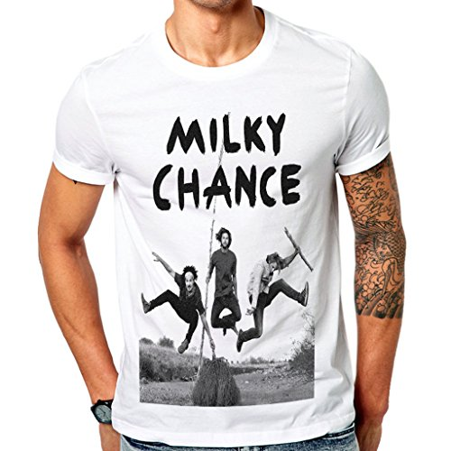 Chance White T-shirt (Mazumi8 Milky Chance Electronic Jump T-Shirt Size L White)