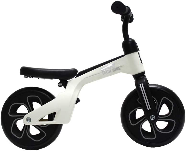 QPLAY Bicicleta de Equilibrio sin Pedales Tech Balance Trike White