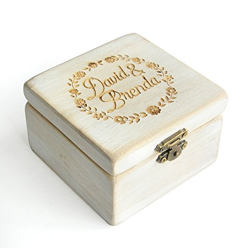 Custom Wood Wedding Ring Box Rustic Wedding Ring Bearer Box Personalized Wedding Ring Box