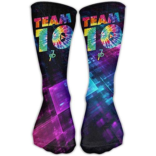 Team10 Tie Dye Jake Paul Women's Men's Classics Socks Warmer Athletic Stockings 30cm Casual Long Soft Fabric ()