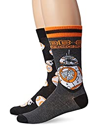 Disney Men's Star Wars 2 Pack Crew Socks