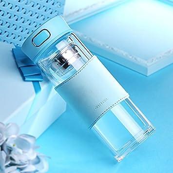 Creative de cristal Agua Pot té sin BPA botella de agua de vidrio con bambú tapa