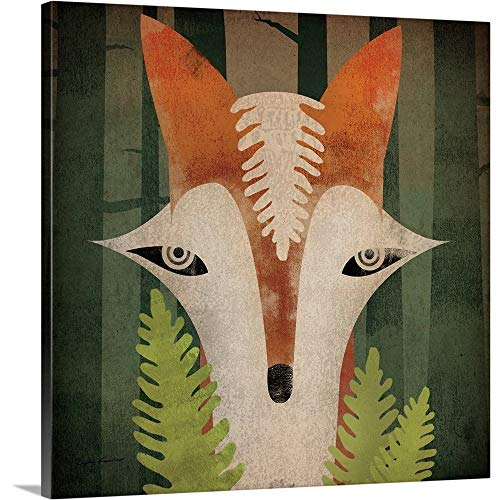 (Ryan Fowler Premium Thick-Wrap Canvas Wall Art Print Entitled Fern Fox)