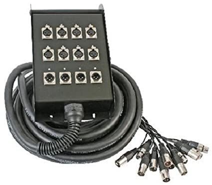 amazon com: pro audio 50ft 8-channels & 4 returns stage box snake xlr cable:  musical instruments