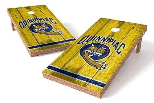 PROLINE NCAA College 2' x 4' Quinnipiac Bobcats Cornhole Board Set - Vintage