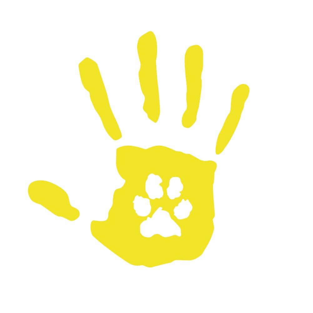 Dandeliondeme Creative Hand Print mit Hund Katze Haustier Pfotenabdruck Rettungswagen Aufkleber Dekor f/ür Notebook Skateboard Snowboard Gep/äck Gep/äck MacBook Auto Fahrrad Sto/ßstange Wei/ß
