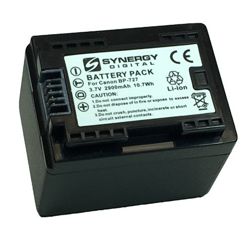 Canon VIXIA HF R70 Camcorder Battery Ultra High Capacity (Li-Ion 3.6V 2900mAh) - Replacement for The Canon BP-727 Camera Battery - Fully Decoded by Synergy Digital