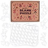 paint puzzle - aGreatLife Blank Jigsaw Puzzles: Create and Color Your Own Puzzle - Perfect Art Toy for Kids and DIY Puzzle Activity Kit for All - with 8 Puzzles per Box & 48 pieces per Puzzle