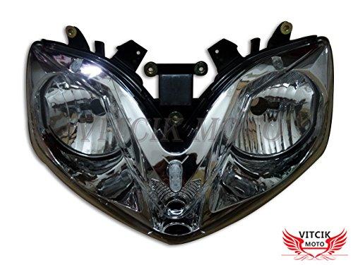 VITCIK Motorcycle Headlight Assembly for Honda CBR600F4i 2001-2007 CBR600 F4i 01 02 03 04 05 06 07 Head Light Lamp Assembly Kit (Black) 06 Honda Cbr600f4i Cbr