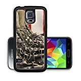 Luxlady Premium Samsung Galaxy S5 Aluminium Snap Case Sage green military combat boots with US flag in the background IMAGE ID 7711721