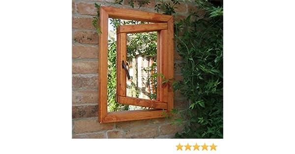 Pequeña ventana abierta ilusión jardín espejo: Amazon.es: Hogar