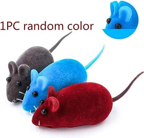 Qazxsw Color Plástico Juguetes para Gatos Pluma Gato Divertido Forma de Ratones Ratón Falso Productos para Mascotas Ventosa Inferior Elástica, 1 Piezas Color Aleatorio: Amazon.es: Deportes y aire libre