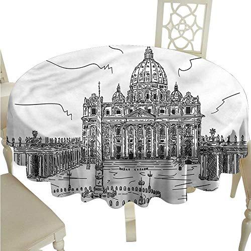 Microfiber Tablecloth Art,Basilica di San Pietro Italy,for Cards