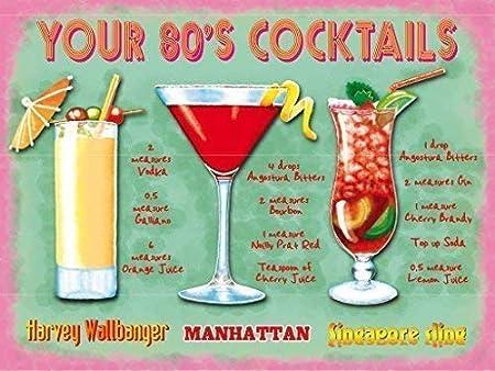 Tus / sus Años 80 Cocktails Barra De Bebidas Pub Restaurante ...