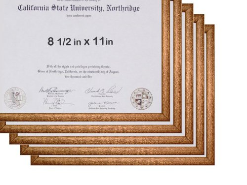 8.5x11 Basic Black Certificate or License Frame - Wood - 10-pack