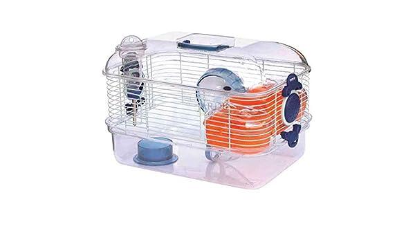 Suinga Jaula para Hamster Transparente. con Noria y asa para ...
