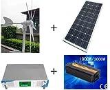 Gowe® 500w hybrid system, 300w wind turbine+100w x2 solar panel+1000w hybrid controller+1000w inverter Picture
