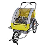 Lucky Tree Pet Dog Trailer Bicycle Trailer Stroller Jogger (Blue & Yellow) (Yellow)