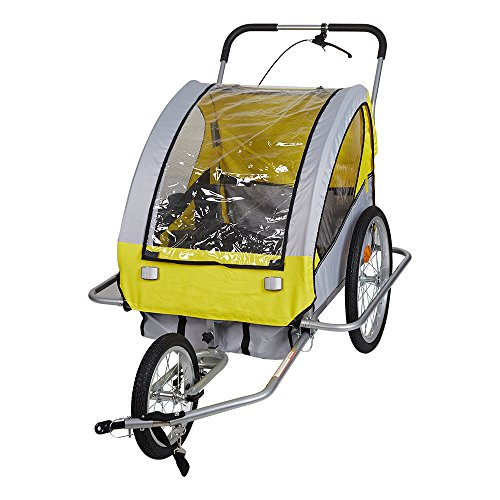 Lucky Tree Pet Dog Trailer Bicycle Trailer Stroller Jogger (Blue & Yellow) (Yellow) by Lucky Tree