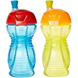Munchkin Click Lock 9-Ounce Bite Proof Sippy Cup, Blue, Yellow, Green, Pink, Pack of 2