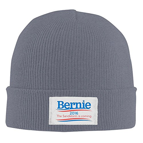 The Sandstorm's Coming Bernie 2016 Winter Warm Knit Beanie Asphalt