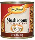 Roland Mushrooms, Pieces & Stems, 4 Ounce (Pack of 24)